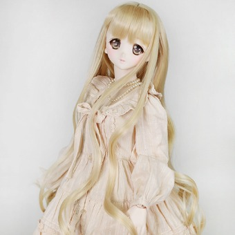 "BJD 8-9"" wig WM-021 (Shine Blond)"