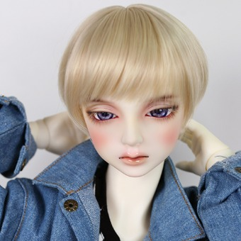 "BJD 8-9"" wig WM-023 (Shine Blond)"